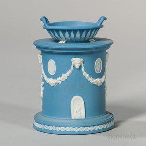 Wedgwood Solid Blue Jasper Roman Altar Vase