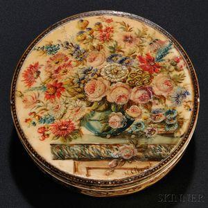Painted Ivory Box