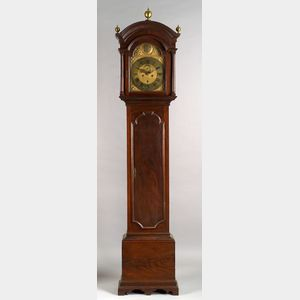 Sold for: $57,575 - Queen Anne Mahogany Tall Case Clock