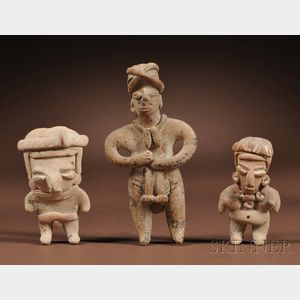 Three Chupicuaro Pottery Figures