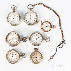 Seven American Pocket Watches