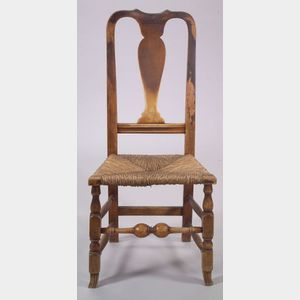 Queen Anne Spanish Foot Maple Side Chair