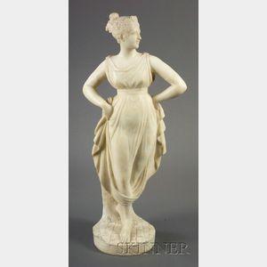Alabaster Figure of a Classical Female Dancer