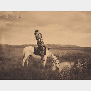 Edward Sheriff Curtis (American, 1868-1952)      An Oasis in the Badlands