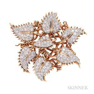 18kt Gold and Diamond Clip Brooch, Jean Schlumberger