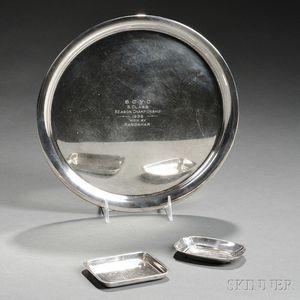 Three Gorham Sterling Silver Seawanhaka Corinthian Yacht Club Trophy Dishes