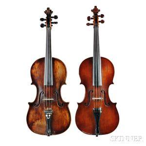 Two American Violins, Seth Miller Briggs, South Hanson, c. 1880