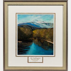 Robert Larsen (American, 20th Century)      Mt. Washington from the Sacco, Conway, NH