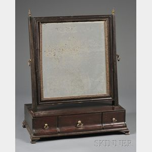 Mahogany and Mahogany Veneer Dressing Mirror
