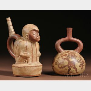 Two Moche Stirrup-Spout Vessels