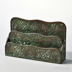 Tiffany Studios Pinecone Pattern Letter Holder
