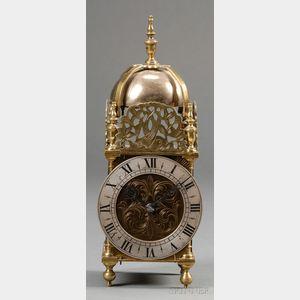 Brass and Iron Lantern Clock