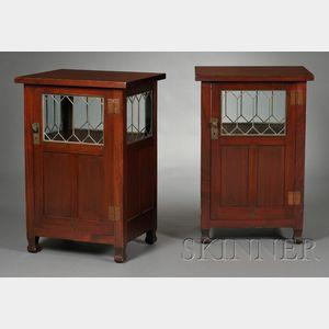 Pair of Roycroft Arts & Crafts Cabinets