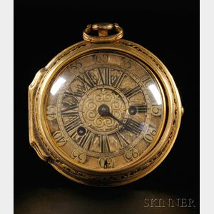 Sold for: $14,760 - Thomas Tompion Gilt Case Clock Watch