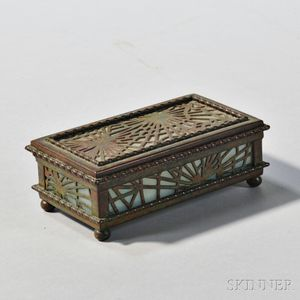 Tiffany Studios Pinecone Pattern Box