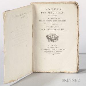 Servan, Antoine-Joseph-Michel (1737-1807) Doutes dun Provincial, Proposes a Messieurs les Medecins-Commissaires Charges par le Roi de