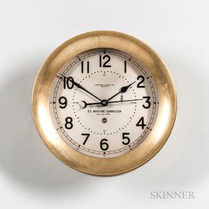 U.S. Maritime Commission Chelsea Deck Clock