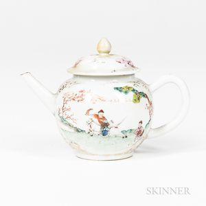 Export Enameled Teapot