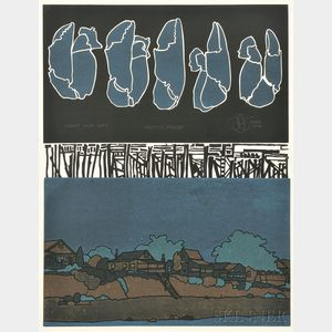 Robert Enos (American, 20th/21st Century)    Night Nor Day