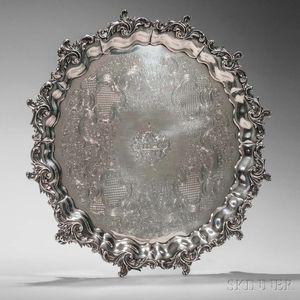 Victorian Sterling Silver Salver