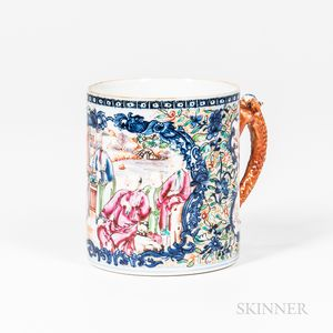 Export Famille Rose Cup with a Handle