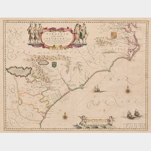 (North America, East Coast), Blaeu, Willem (1571-1638) & Blaeu, Jan (1596-1673)