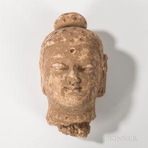 Gandharan Stucco Buddha Head