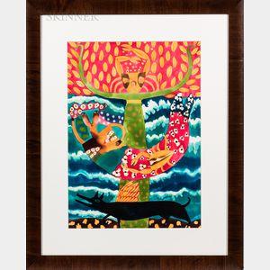Hortensia Bueno Sanchez (Mexican, b. 1959)      Mermaid.