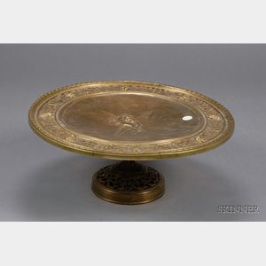 Large Classical Revival Brass Tazza