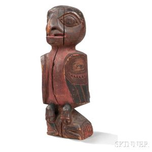Northwest Coast Carved and Painted Wood Bird