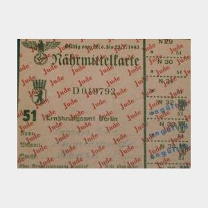 (Holocaust) Small Group of Currency and Ephemera