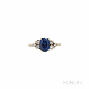 Fred 18kt Gold, Sapphire, and Diamond Ring