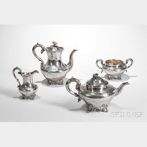 Four-piece Victorian Sterling Silver Tea and Coffee Service