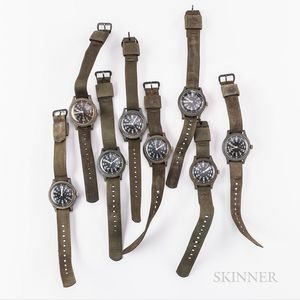 Eight Mil-Spec Benrus MIL-W-46374A Wristwatches