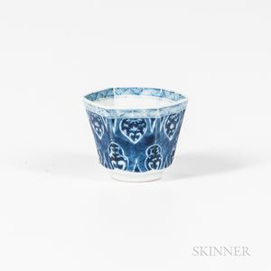 Blue and White Wine Cup