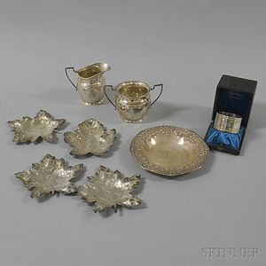 Small Group of Sterling Silver and Silver-plated Tableware