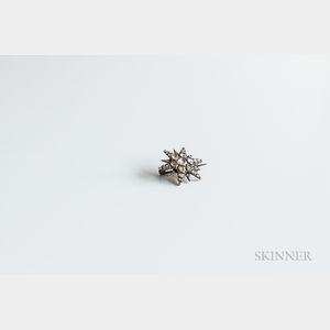 Antique Rose-cut Diamond Star Brooch