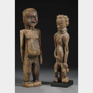 Two East African Carved Wood Figures