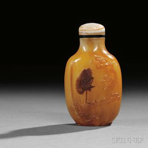 Sandwiched Peking Glass Snuff Bottle