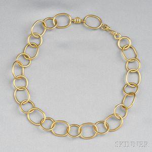 18kt Gold Necklace, Temple St. Clair