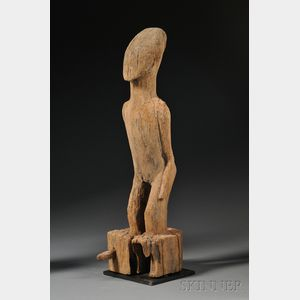 Madagascar Carved Wood Ancestor Figure