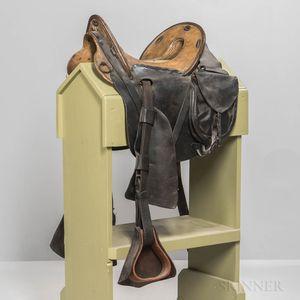 U.S. Model 1859 McClellan Saddle Identified to Quartermaster Sergeant Charles D. Warner, 123rd New York Volunteer Infantry, and Saddle
