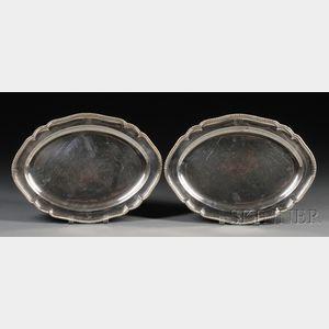 Pair of George III Silver Platters