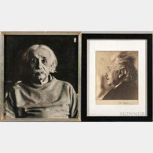 Einstein, Albert (1879-1955) Two Photographic Portraits.