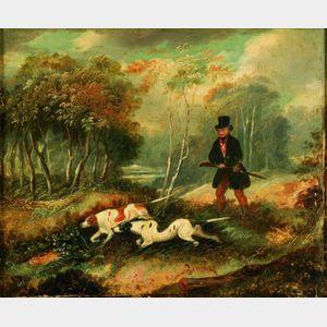 Attributed to James Barenger (British, 1745-1813)    Three Shooting Scenes