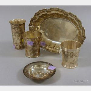 Five Sterling Tablewares