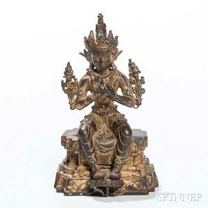 Gilt-bronze Maitreya Buddha