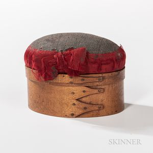 Shaker Three-finger Pincushion-mounted Sewing Box