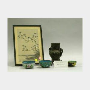 Seventeen Asian Porcelain, Cloisonne, Bronze, and Decorative Items.