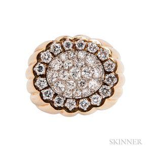 Diamond Cluster Ring, Mounted by Van Cleef & Arpels